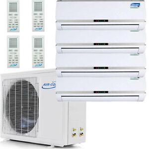 Quad Zone Ductless Mini Split Air Conditioner Heat Pump