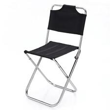 Portable Outdoor Fishing Folding Chairs Garden Picnic Camping Black Aluminum