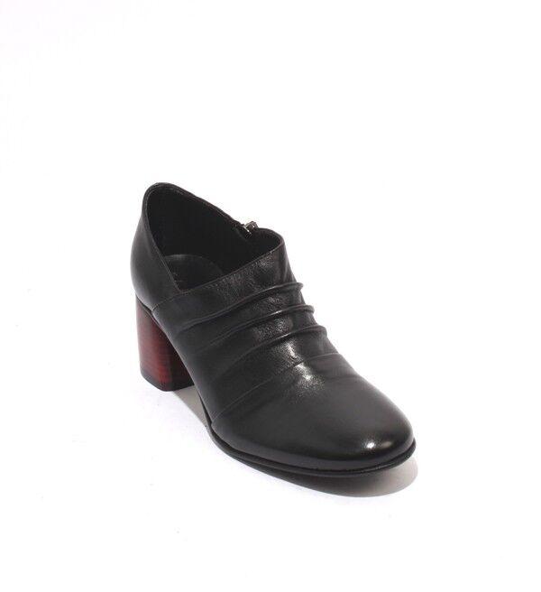 Mally Mally Mally 6456 Negro Rojo Cuero Puntera rojoonda Zapatos Tacón Botines Cremallera 37 US 7  tienda en linea