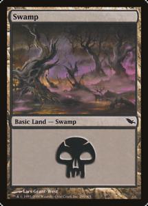 20x Shadowmoor SWAMP #290 Same Art Basic Land NM/LP MTG Magic the Gathering