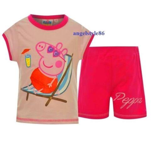 Completino bambina PEPPA PIG t shirt canotta SHORT pantaloncino da 1 A 5 ANNI