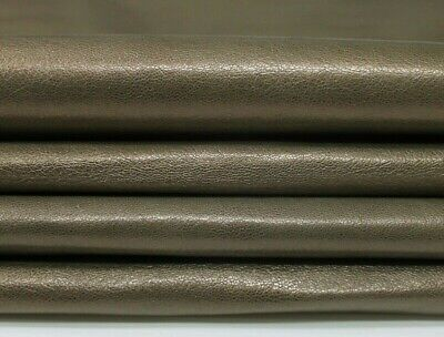 Italian Goatskin leather skins hides WASHED PEARLIZED BROWN ANTIQUED 4+sqf