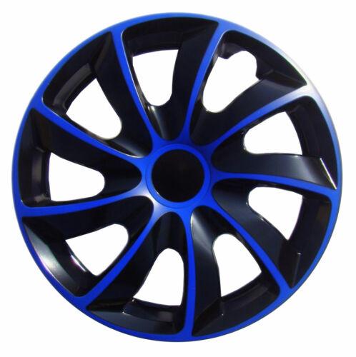black Set of 16/'/' Wheel trims hubcaps for Vauxhall Vivaro blue