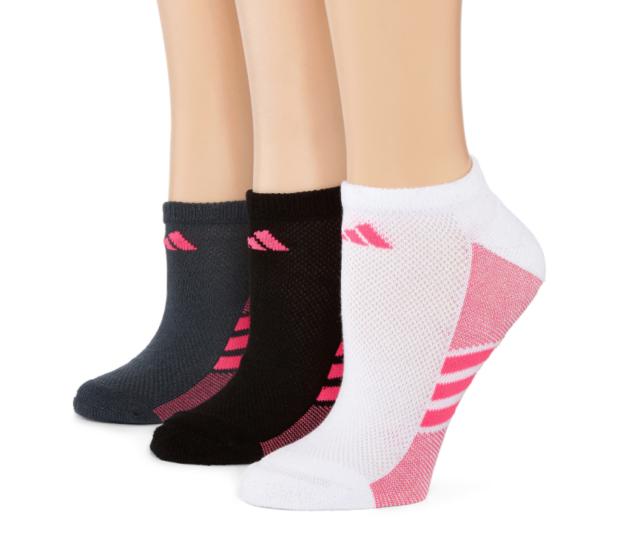 05446d4dd9d0 Adidas Pack Of 3 Superlite No Show Socks Multi Color Women Sz 5-10 3018