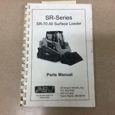 Asv Sr 70 Parts Manual Book Catalog List All Surface Track Loader Guide 2045 754