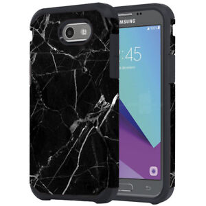 huge selection of bfc9c b091e Details about SAMSUNG GALAXY J3 LUNA PRO PRIME BLACK MARBLE DESIGN ASTRO  CASE IMPACT COVER