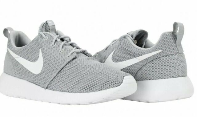 Nike Mens Roshe One Sneakers Breathable Running Shoes Wolf Gray White Size US 8