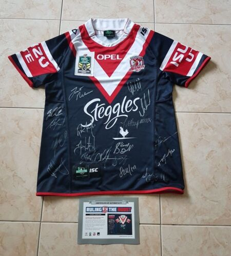 2013 NRL SYDNEY ROOSTERS PREMIERS PREMIERSHIP SIGNED JERSEY LIMITED EDITION