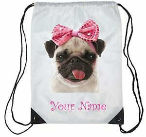 Personalised-Cute-Pug-Gym-Bag-PE-Sports-Swimming-Bag-School-Dance-Girls