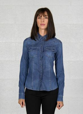 Camicia Donna GUESS W83H11D28Y0 Blu Denim Misura XS Manica Lunga