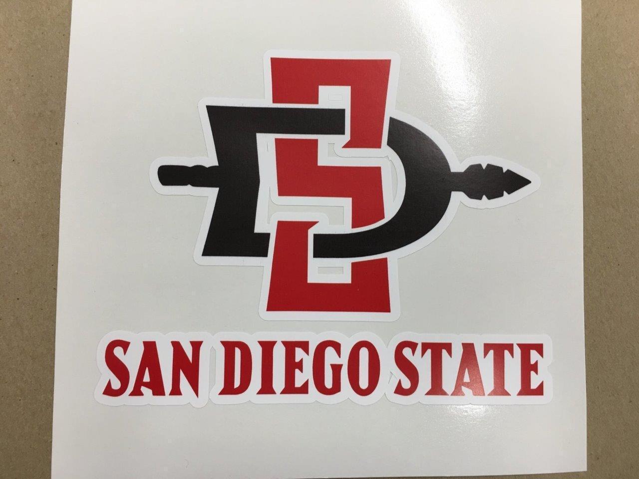 San Diego Aztecs cornhole board or vehicle decal(s)SDA3