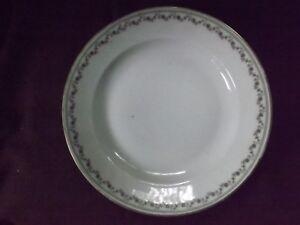 * Ancien Plat Creux * Porcelaine De Baudour. De Fuisseaux. * Belgique.vers 1900.