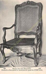 Postcard-Arts-Decorative-Chair-Furniture-Caned-Period-XVIII-Edit-ND-402