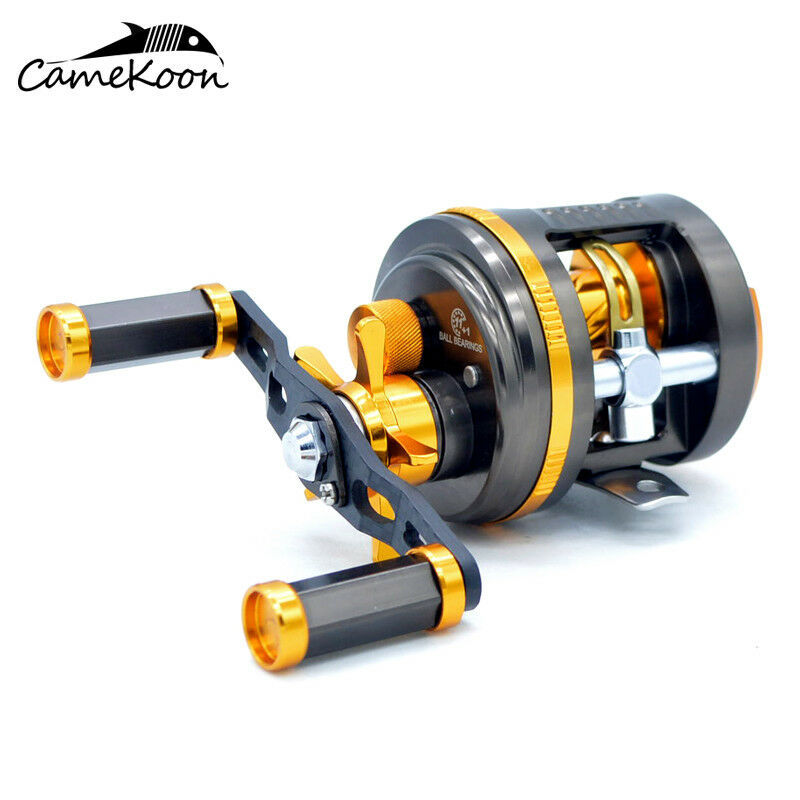 Camekoon Round Baitcasting Fishing Reel 6.4  1 Gear Ratio main droite casting reel
