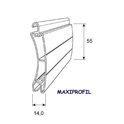 stranggepresster Sicherheits-ALU-Rolladenpanzer, MAXI, Rolladen 55x14, Rollladen