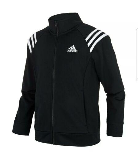 "Brand New Girls Adidas Black Mock Neck Track Jacket Chest size 28/"" 7-8 yr"