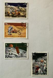 Fujeira-Space-Apollo-Stamps-x-4-1972