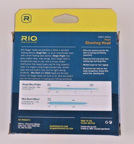 Rio Skagit Max Short 550 Grain Shooting Head Free Fast Shipping 6-20994