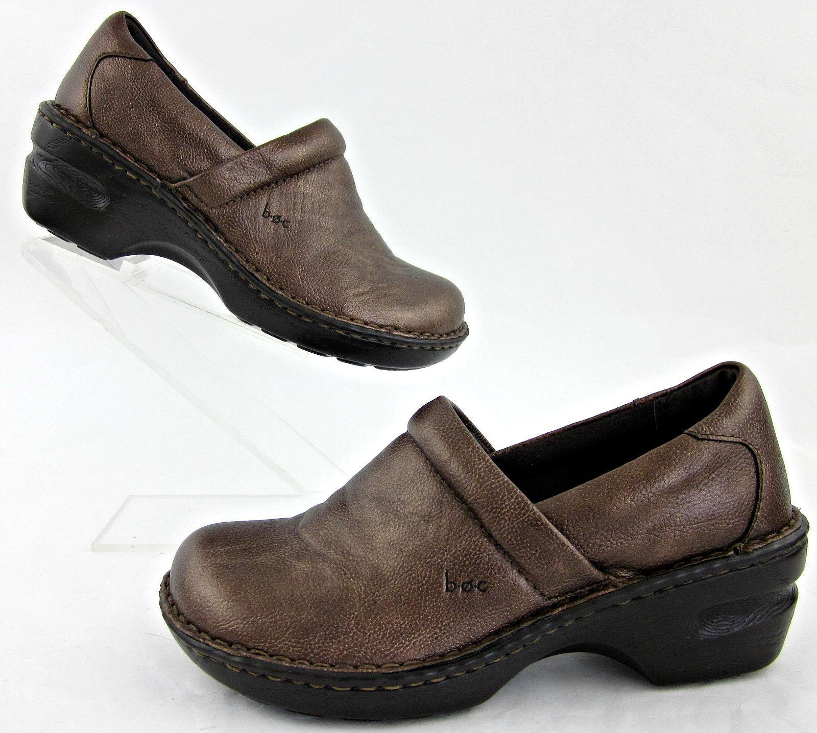 BOC By Born Womens Slip On Clogs Copper Sz 6.5