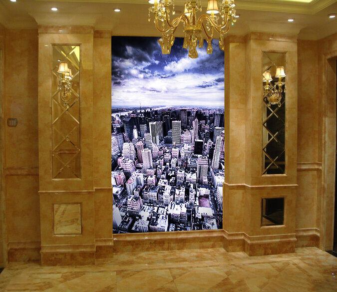 3D City altitude 1A WallPaper Murals Wall Print Decal Wall Deco AJ WALLPAPER