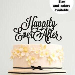 Wedding Cake Topper Happily Ever After Gold Anniversary Cake