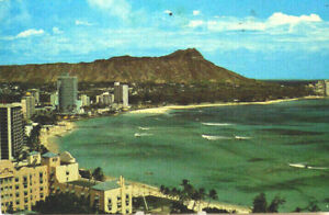 Details About Diamond Head Waikiki Beach Hawaii Hi 1960 S Honolulu Postcard S 478 A2