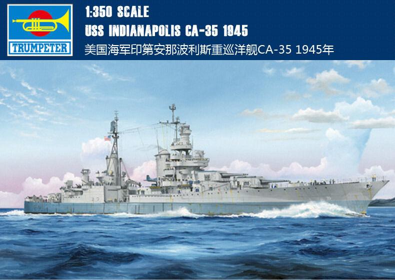 1 350 Model 05326 USS Indianapolis CA-35 1945 Cruiser Warship kit Trumpeter