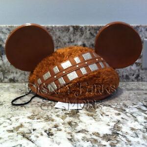 Disney Parks Star Wars Chewbacca Furry Mickey Ears Hat - Adult Size ... 7cea708dda47