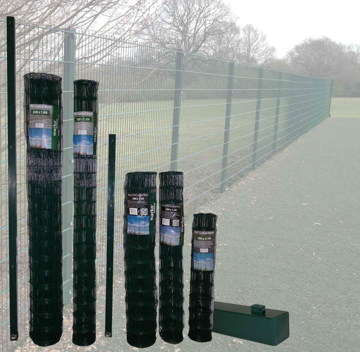 Marko Fencing Pvc Green Plastic Coated Metal Garden Fence Mesh 0 6m X 10m