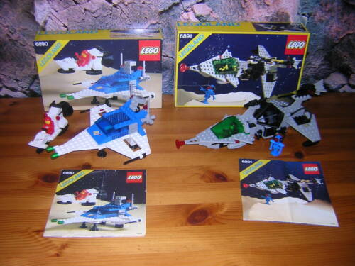 J 12 LEGO Lego Land Classic Space 6890 6891 OVP + BA Spaceship