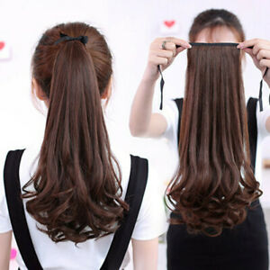 Women-Wig-Long-Curly-amp-Straight-Ponytail-Claw-Clip-Hairpiece-Hair-Extentions-JP
