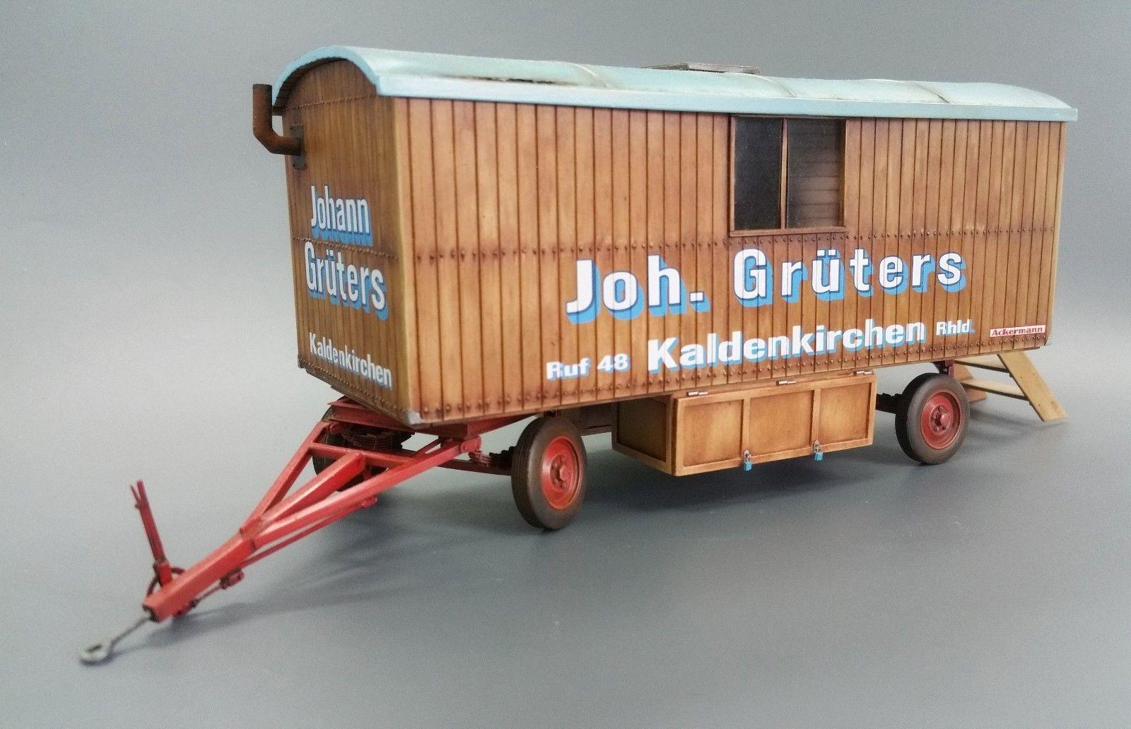 Plus Model Caravan Building Car Trailer Diorama Resin Kit Kit 1 3 5 Art 504