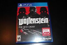 Replacement Case (NO GAME) Wolfenstein The New Order PS4 Playstation 4