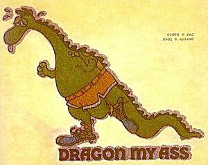 Original Glitter Dragon My Ass Iron On Transfer Jogger