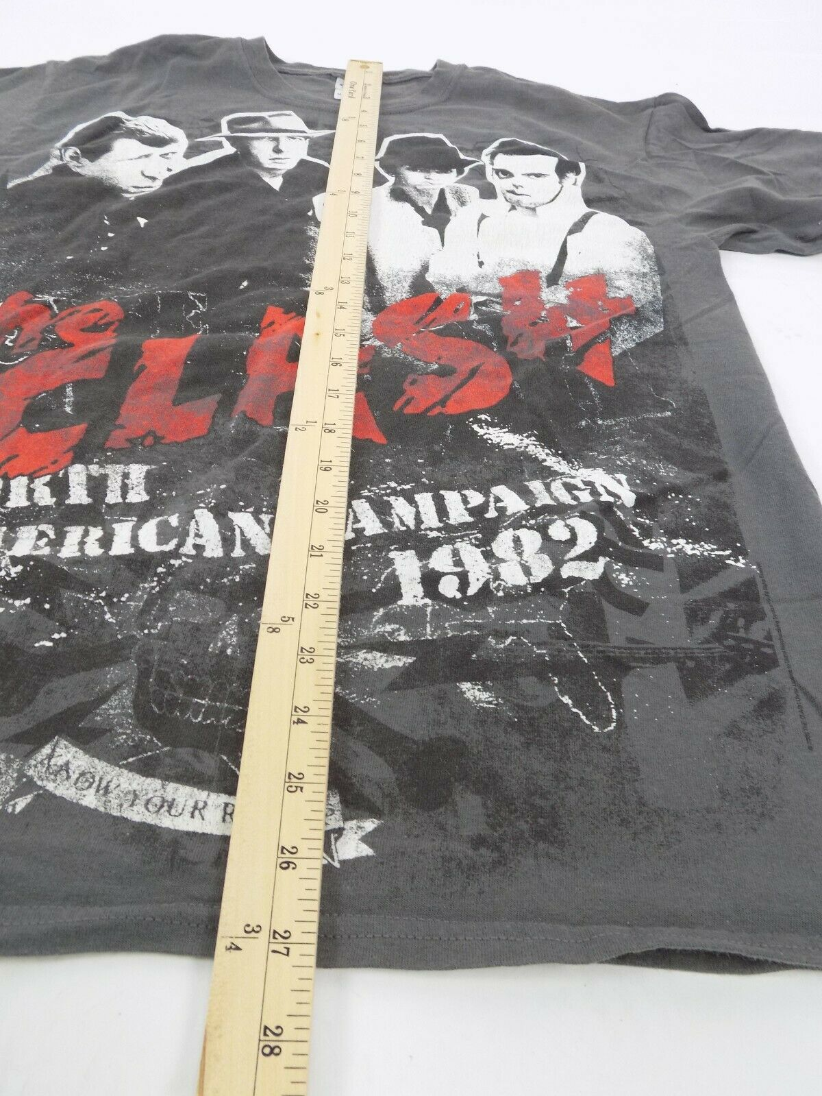 The Clash North American Campaign 1982 T Shirt Me… - image 9