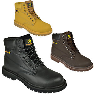 MENS SAFETY STEEL TOE CAP HIKING WORK SHOES TRAINERS BOOTS WALKING ANKLE SIZE