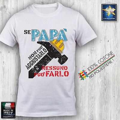 T-shirt maglietta Uomo PAPA/' SUPEREROE Batman Flash Hulk Ironman festa del papà