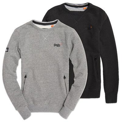 Superdry Mens Orange Label Crew Sweat Sweatshirt Hoodies
