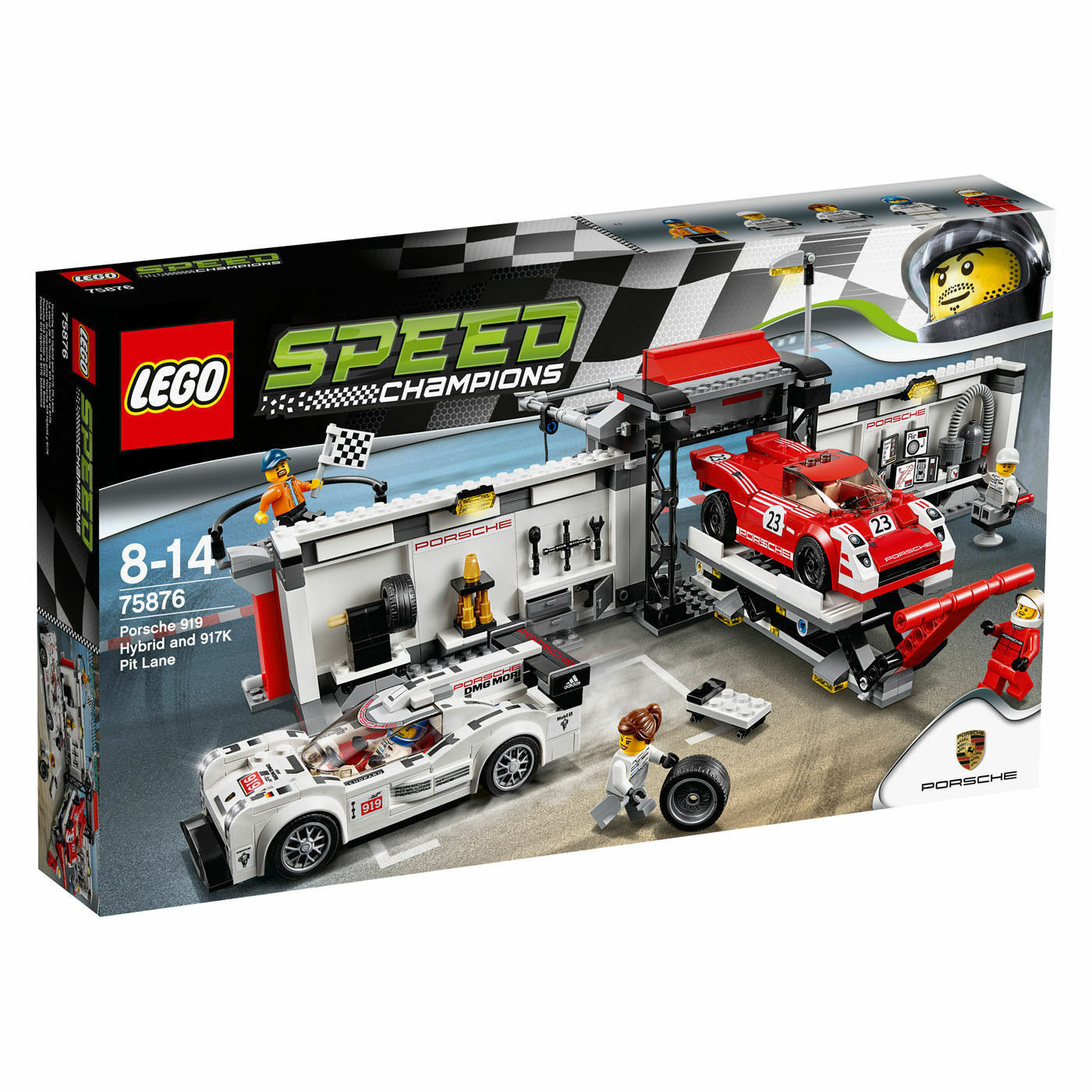 75876 LEGO Porsche 919 Hybrid & 917K Pit Lane Speed Champions BRAND NEW RETIRED