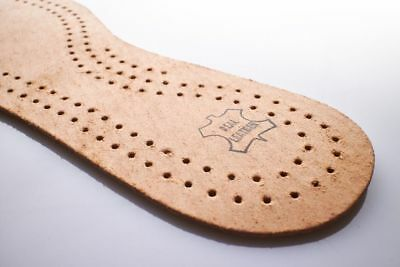 Marrón Cuero Natural De Zapatos Plantillas Unisex Carbón Activo Original Suela Interior [83]