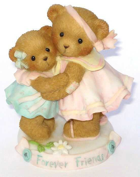 Cherished Teddies - - - THE LOVE OF A FRIEND IS FOREVER - CARLTON CARDS - 4008174 d51db5