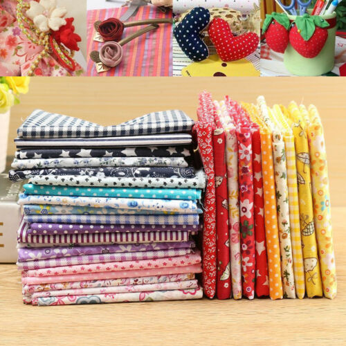 5 Stoffpakete Baumwollstoffe Stoffpaket Stoffreste Basteln DIY Patchwork 50x50cm