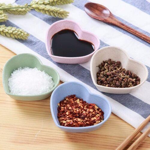 Wheat Straw Small Plates Food Snack Dish Seasoning Sauce Eco-friendly Plate Tool