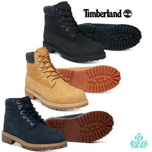 New-Timberland-Ankle-Boots-Junior-Youth-Leather-Nubuck-Lace-Up-Waterproof