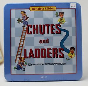 Chutes And Ladders Classic Nostalgia Edition Collector Tin