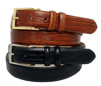 Valley View Genuine Leather Italian Calfskin Designer Dress Belt Croco Black