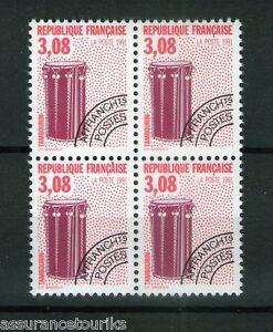 PREOBLITERES-1990-YT-218-bloc-de-4-TIMBRES-NEUFS-LUXE