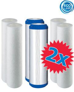 2x Ersatz Filter Osmose 3er Jahres Set 10-PLAX-1 für 5 Stufen Umkehrosmoseanlage