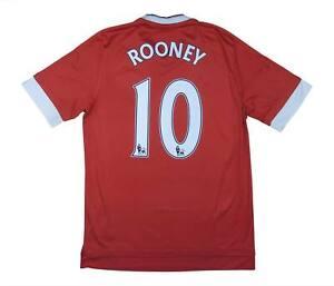 Manchester United 2015-16 ORIGINALE Maglietta Rooney #10 (eccellente) M