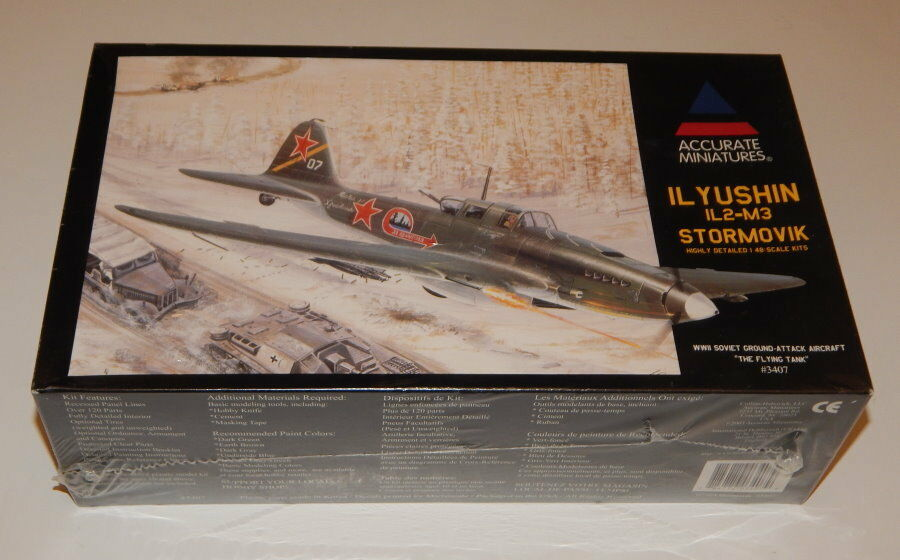 Accurate Miniatures 3407 1 48 Ilyushin IL-2M3 Stormovic Sealed R16428